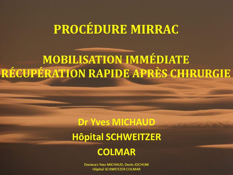 Dr Yves MICHAUD Hôpital SCHWEITZER COLMAR