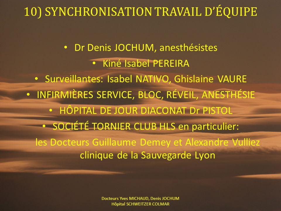 10) SYNCHRONISATION TRAVAIL D'ÉQUIPE