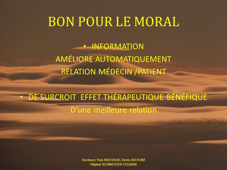 BON POUR LE MORAL INFORMATION AMÉLIORE AUTOMATIQUEMENT