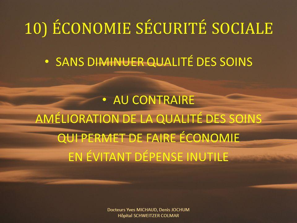 10) ÉCONOMIE SÉCURITÉ SOCIALE
