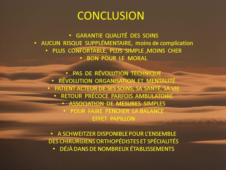 CONCLUSION GARANTIE QUALITÉ DES SOINS