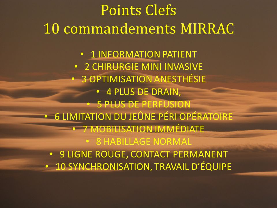 Points Clefs 10 commandements MIRRAC