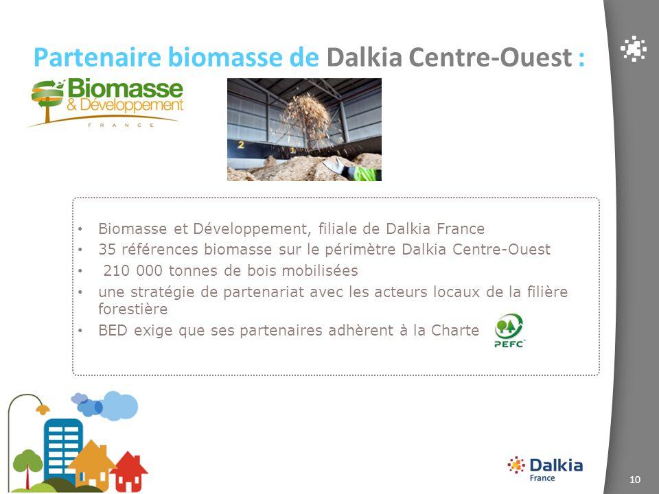 Partenaire biomasse de Dalkia Centre-Ouest :