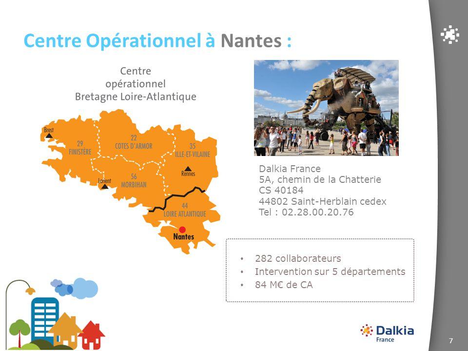 Centre Opérationnel à Nantes :