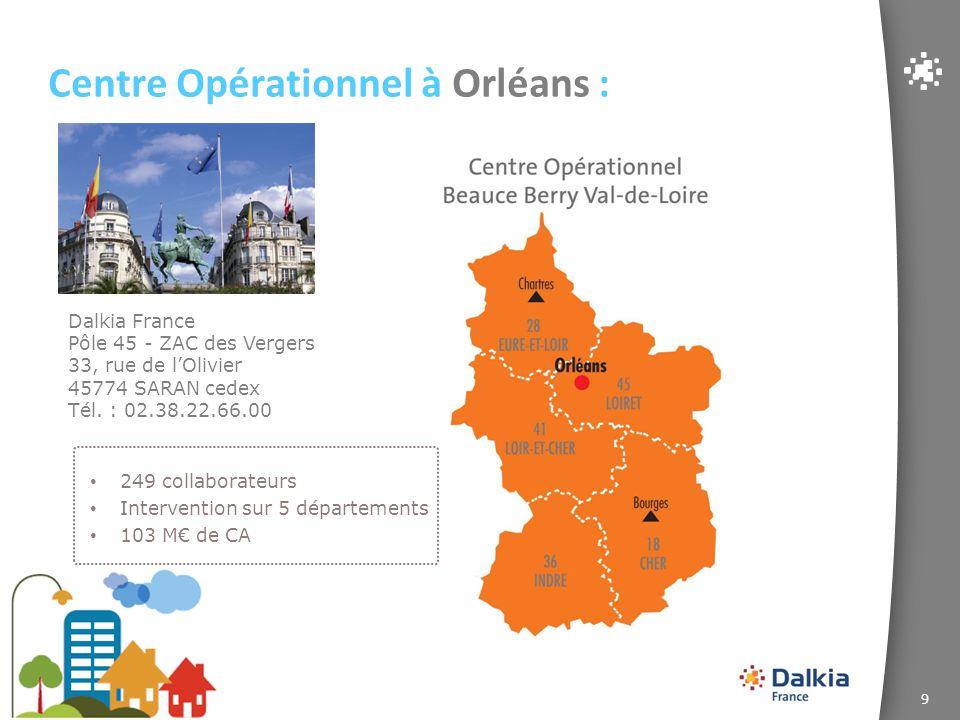 Centre Opérationnel à Orléans :