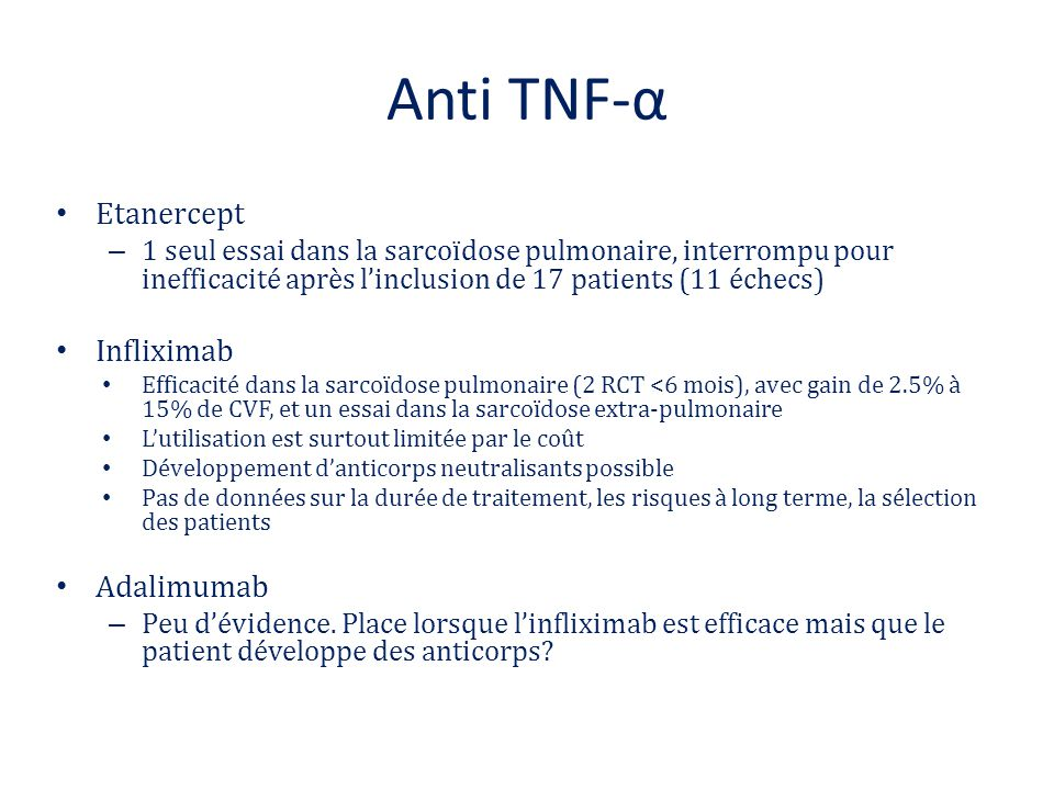 Anti TNF-α Etanercept Infliximab Adalimumab
