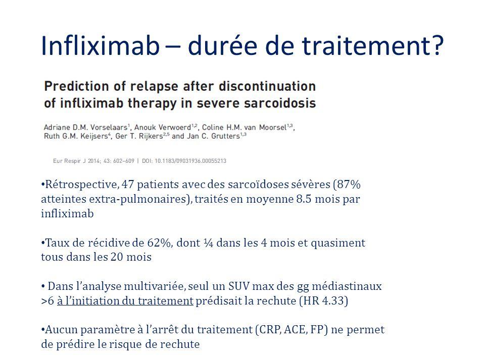 Infliximab – durée de traitement