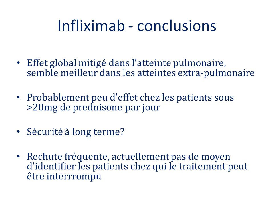 Infliximab - conclusions
