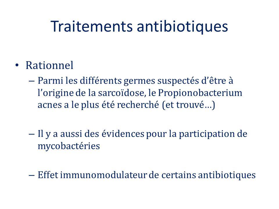 Traitements antibiotiques