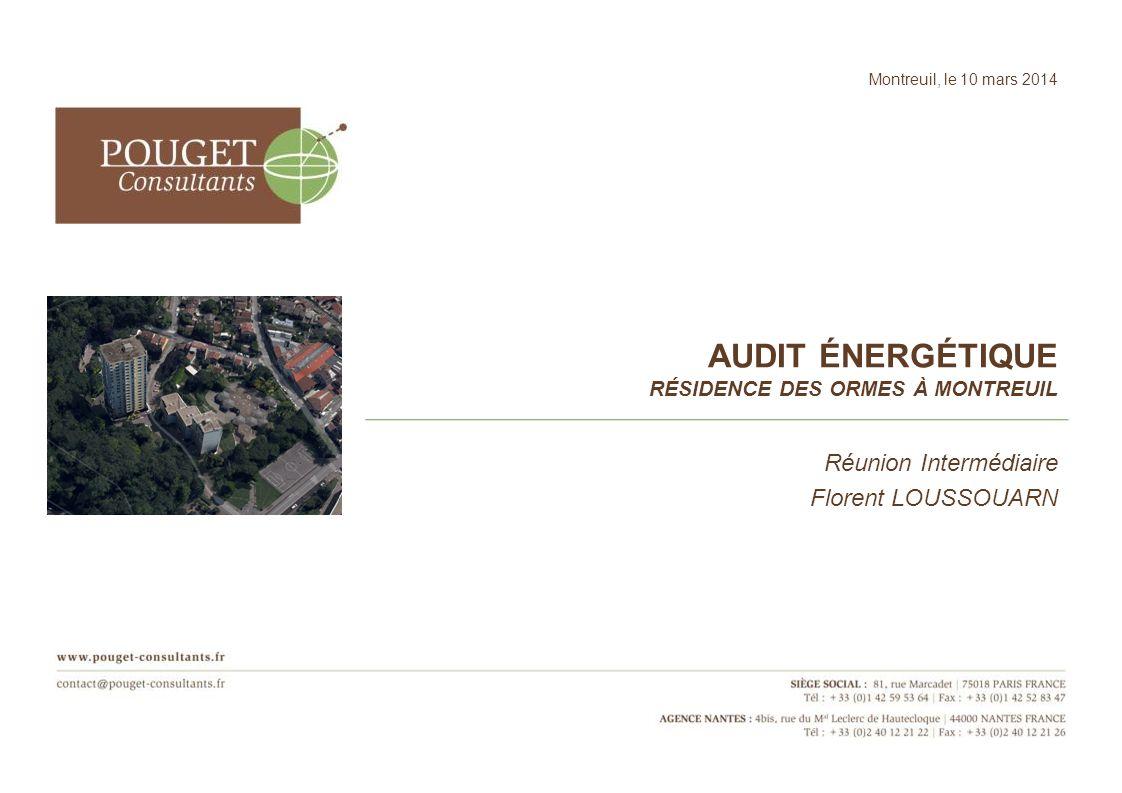 Audit énergétique Résidence des ormes à Montreuil