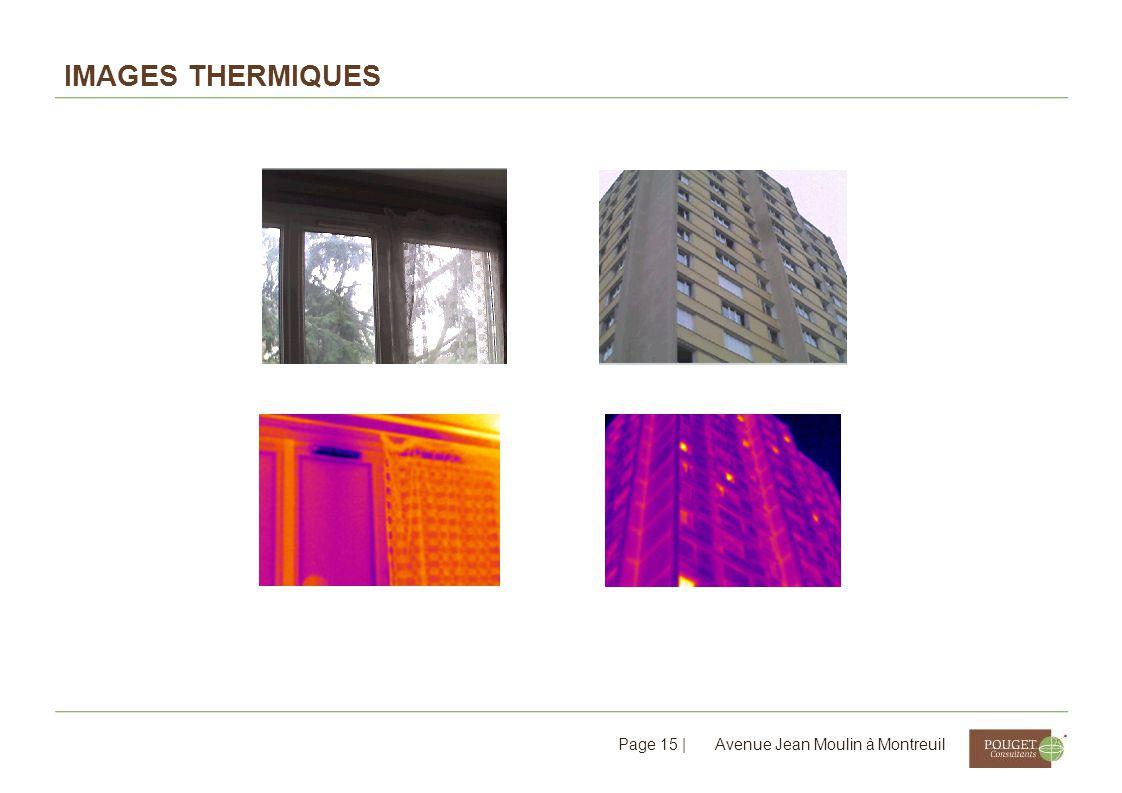 Images thermiques Avenue Jean Moulin à Montreuil