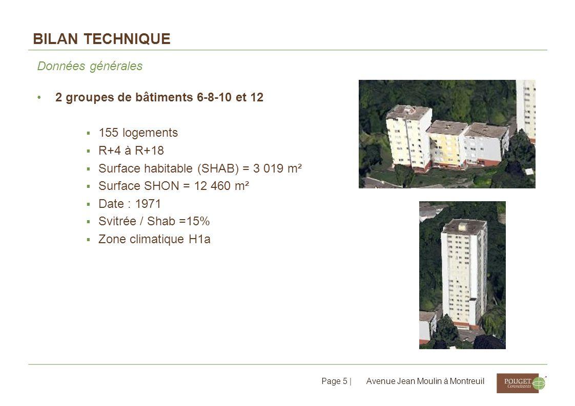 Bilan technique Données générales 2 groupes de bâtiments 6-8-10 et 12