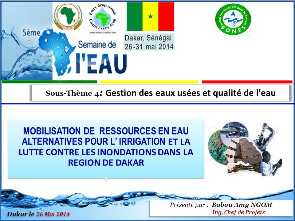 Sous-Thème 4: Gestion des eaux usées et qualité de l eau