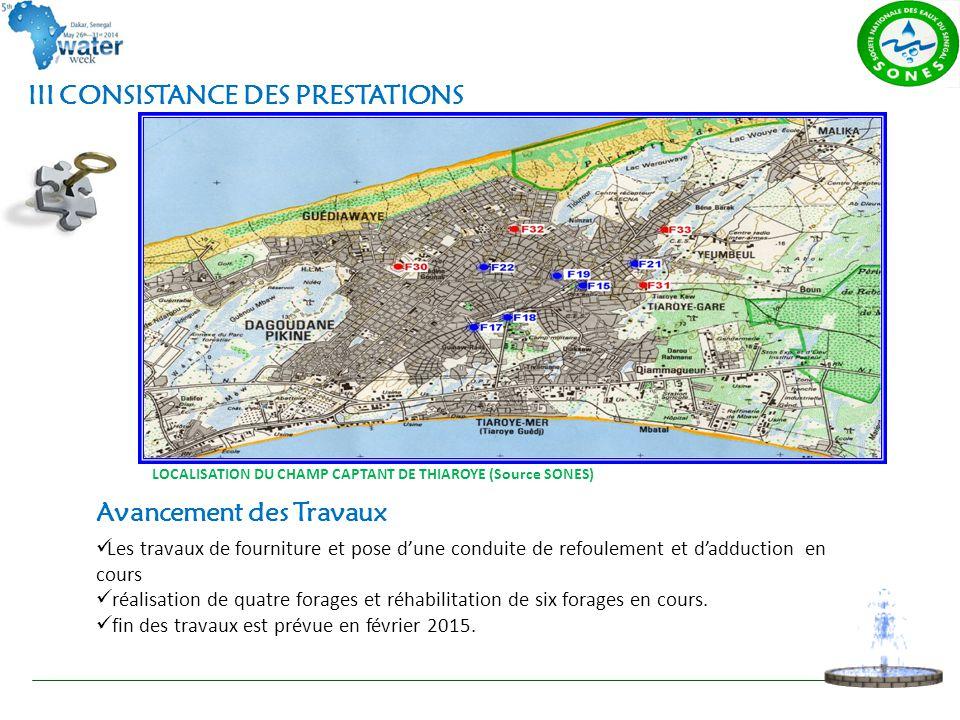 III CONSISTANCE DES PRESTATIONS