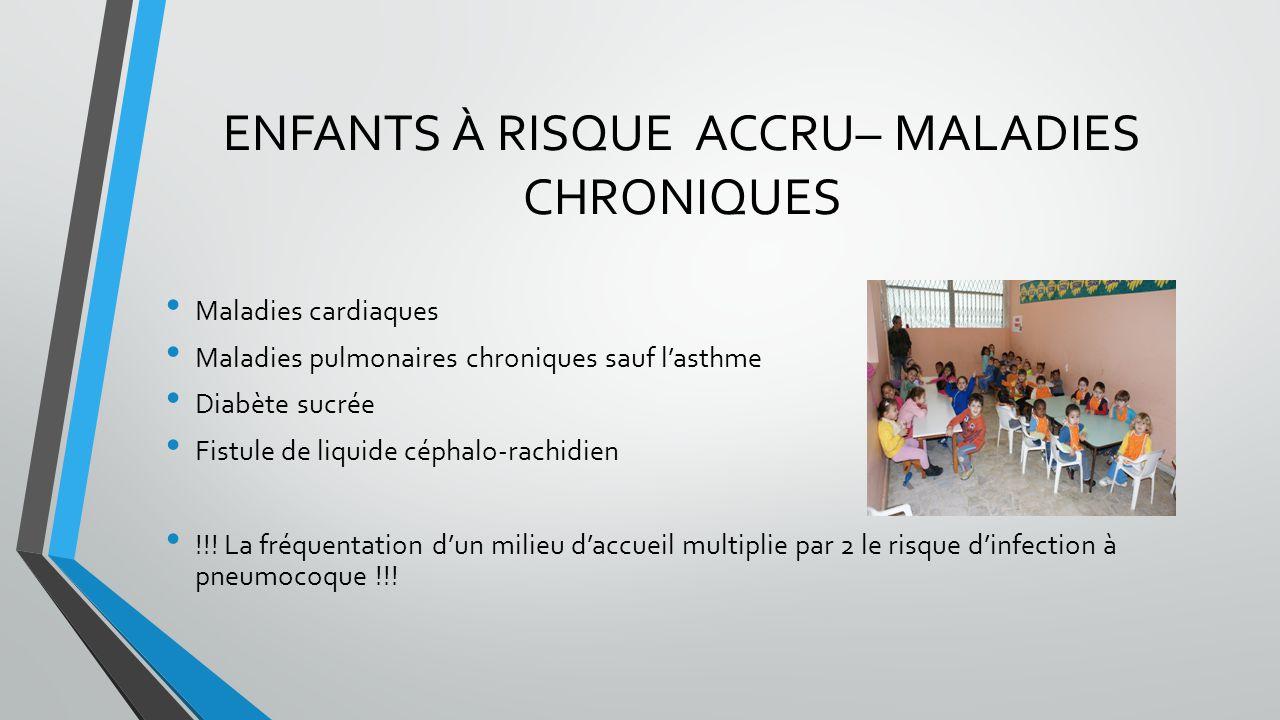ENFANTS À RISQUE ACCRU– MALADIES CHRONIQUES