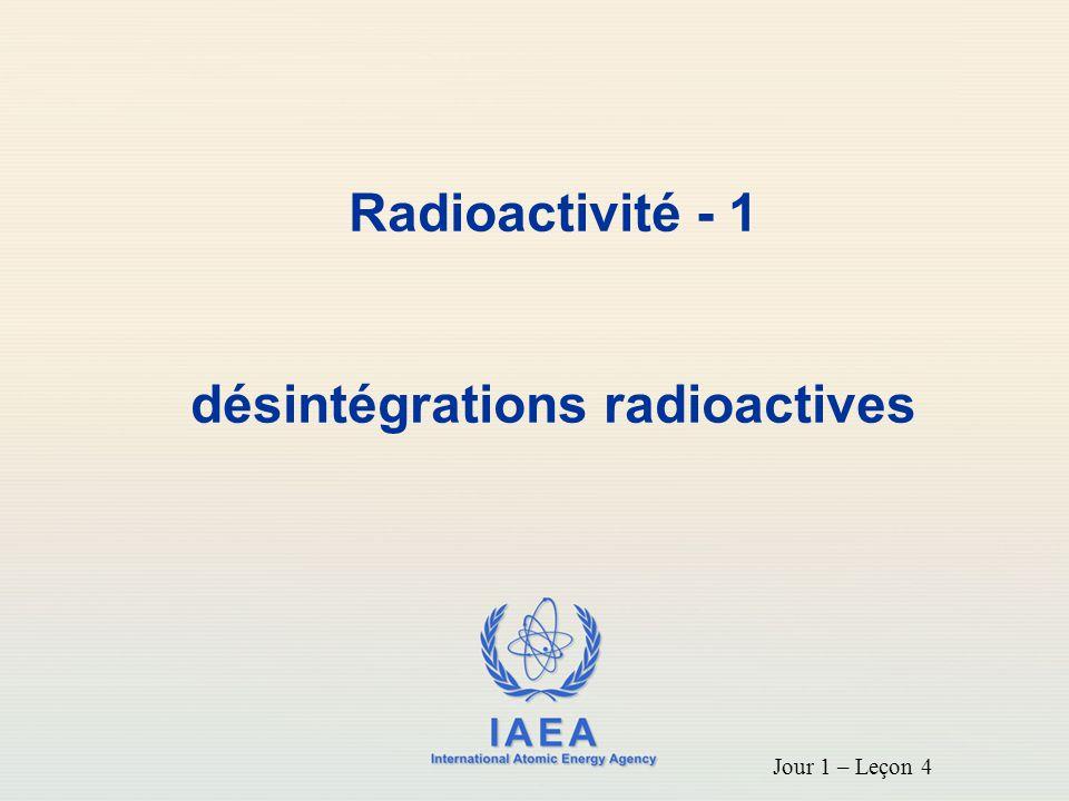 désintégrations radioactives