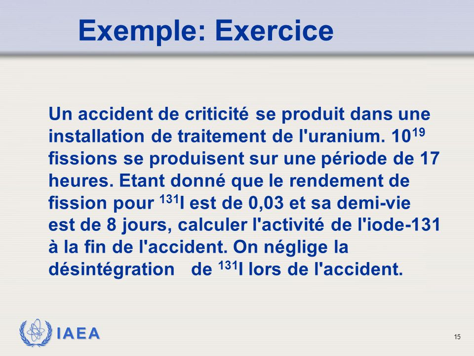 Exemple: Exercice