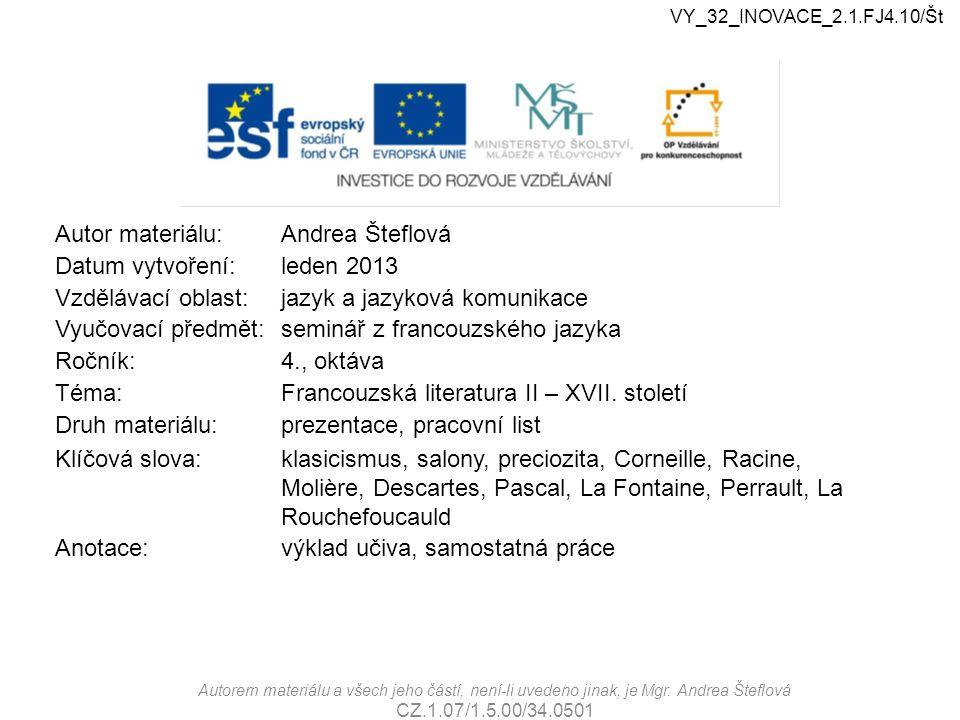 VY_32_INOVACE_2.1.FJr.01/Št VY_32_INOVACE_2.1.FJ4.10/Št.