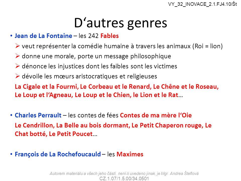 D'autres genres Jean de La Fontaine – les 242 Fables