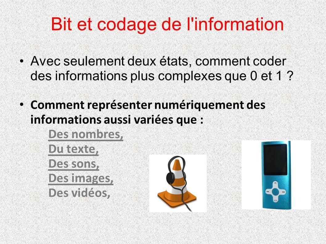 Bit et codage de l information