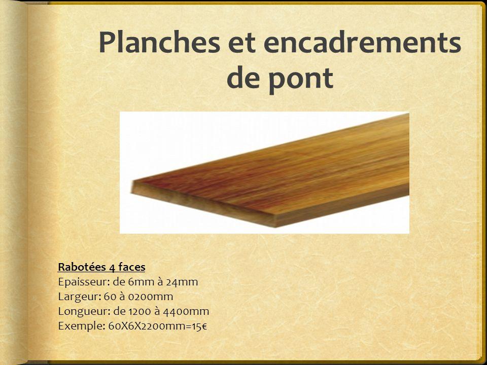 Planches et encadrements de pont