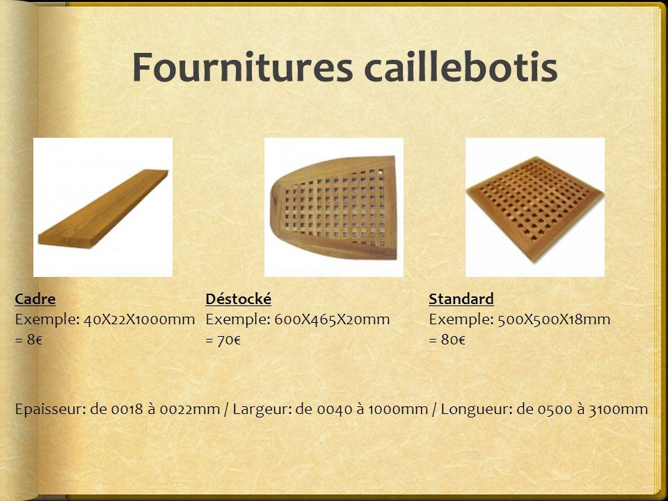 Fournitures caillebotis