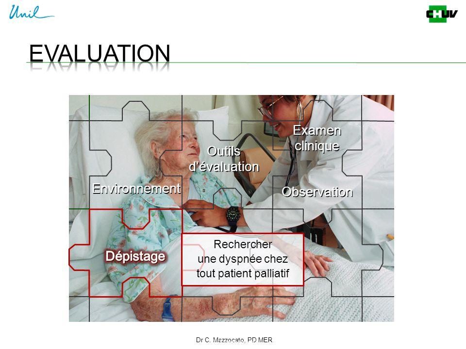 une dyspnée chez tout patient palliatif