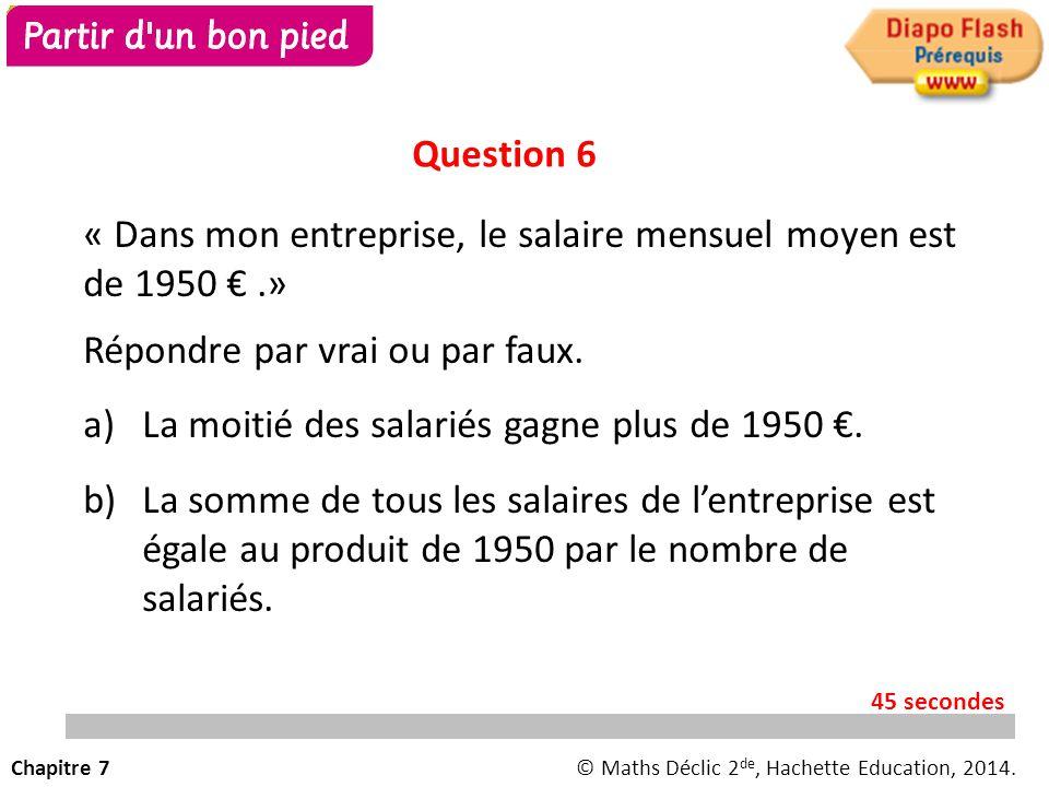 « Dans mon entreprise, le salaire mensuel moyen est de 1950 € .»