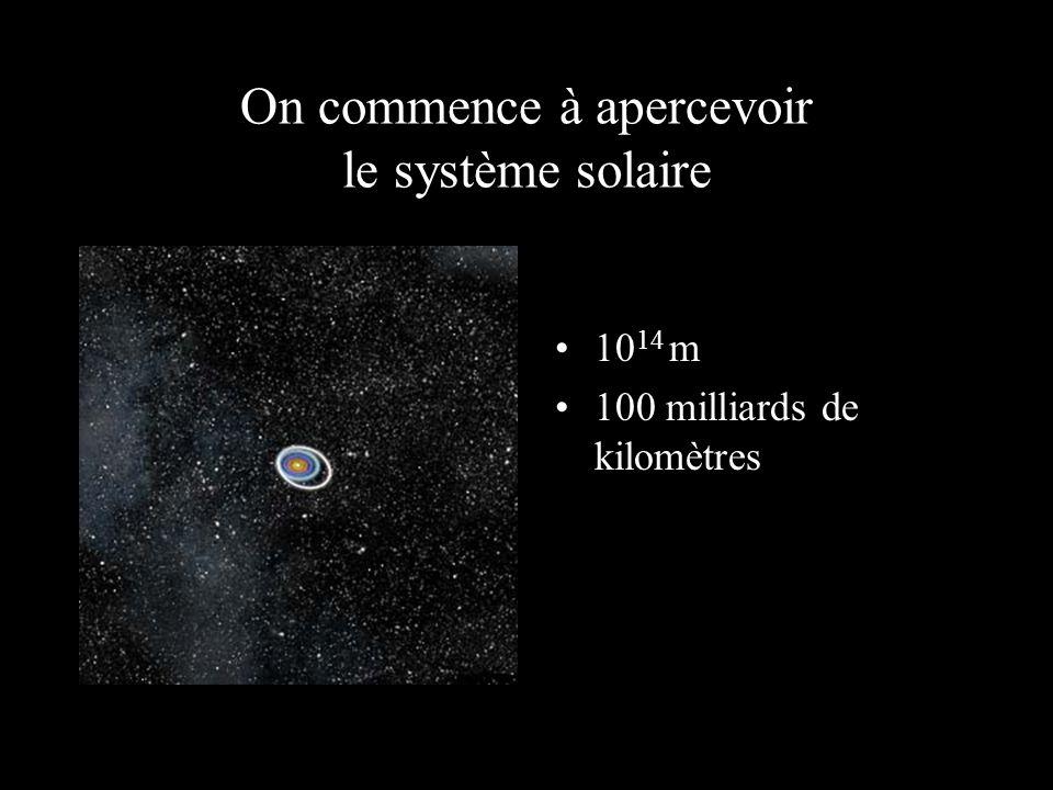 On commence à apercevoir le système solaire