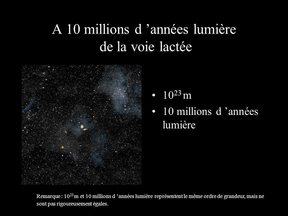 A 10 millions d 'années lumière de la voie lactée
