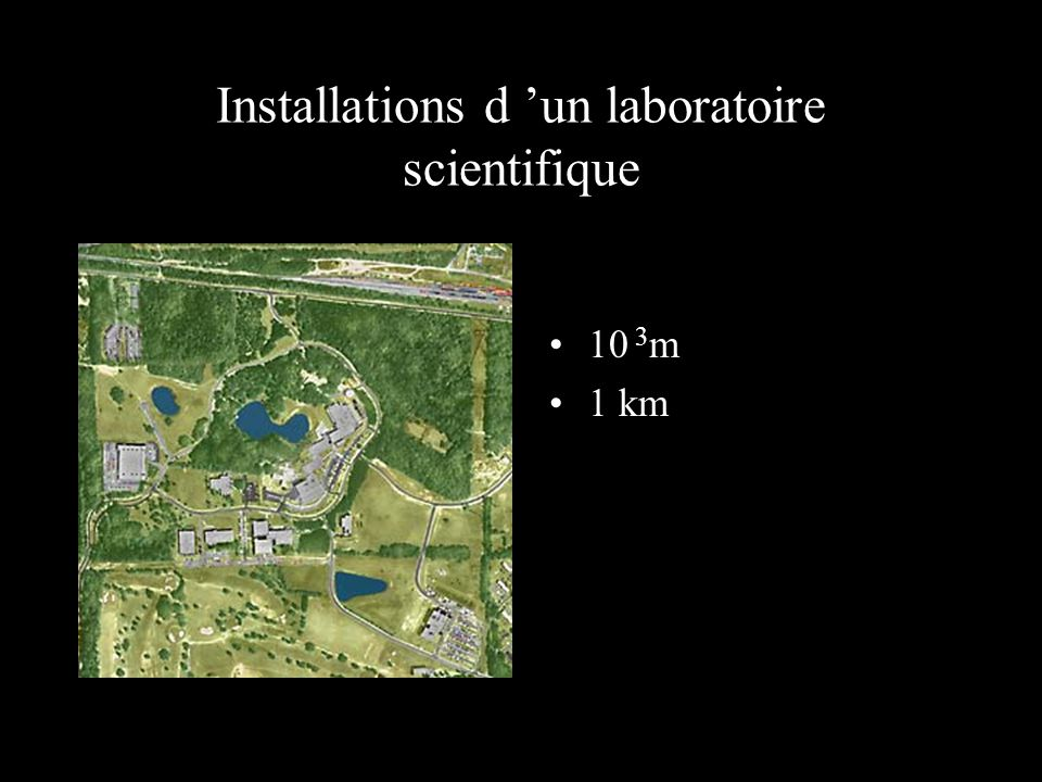 Installations d 'un laboratoire scientifique