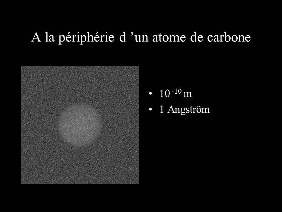 A la périphérie d 'un atome de carbone