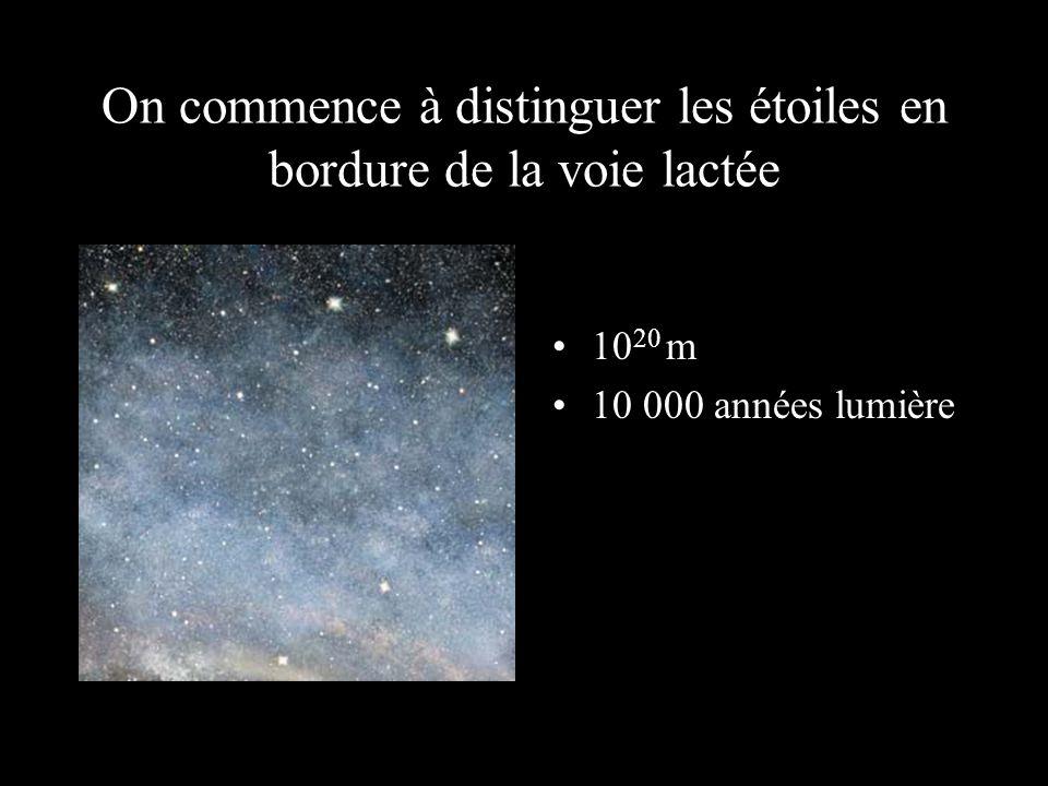 On commence à distinguer les étoiles en bordure de la voie lactée