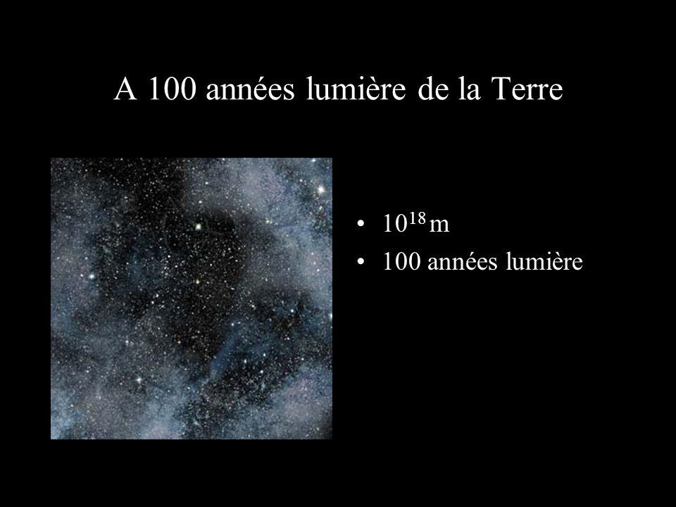 A 100 années lumière de la Terre