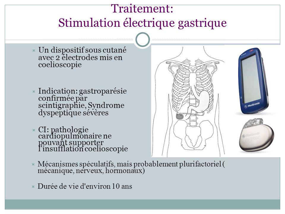 Traitement: Stimulation électrique gastrique