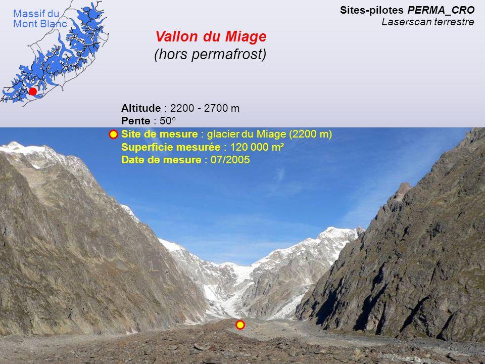 Vallon du Miage (hors permafrost)