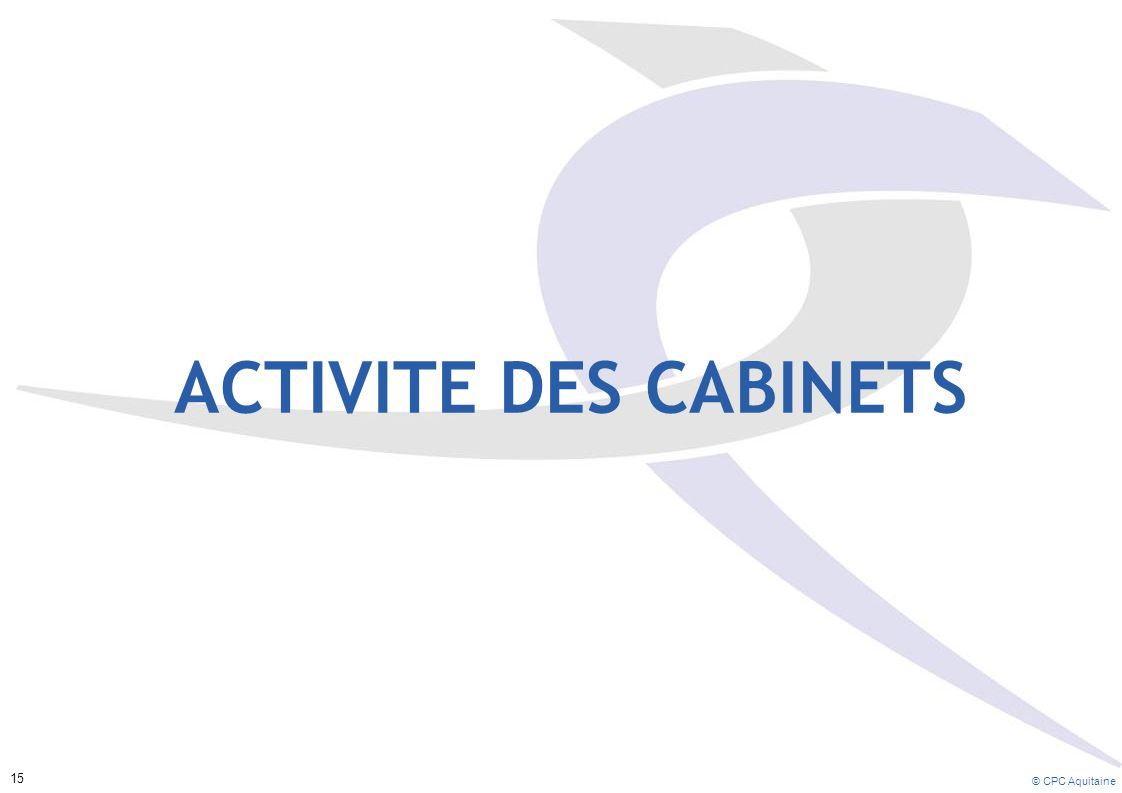 ACTIVITE DES CABINETS 15 © CPC Aquitaine