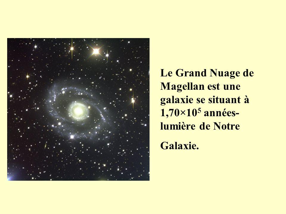 Le Grand Nuage de Magellan est une galaxie se situant à 1,70×105 années-lumière de Notre Galaxie.