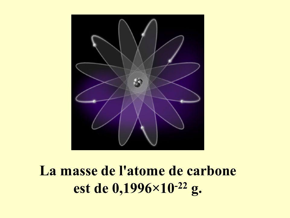 La masse de l atome de carbone