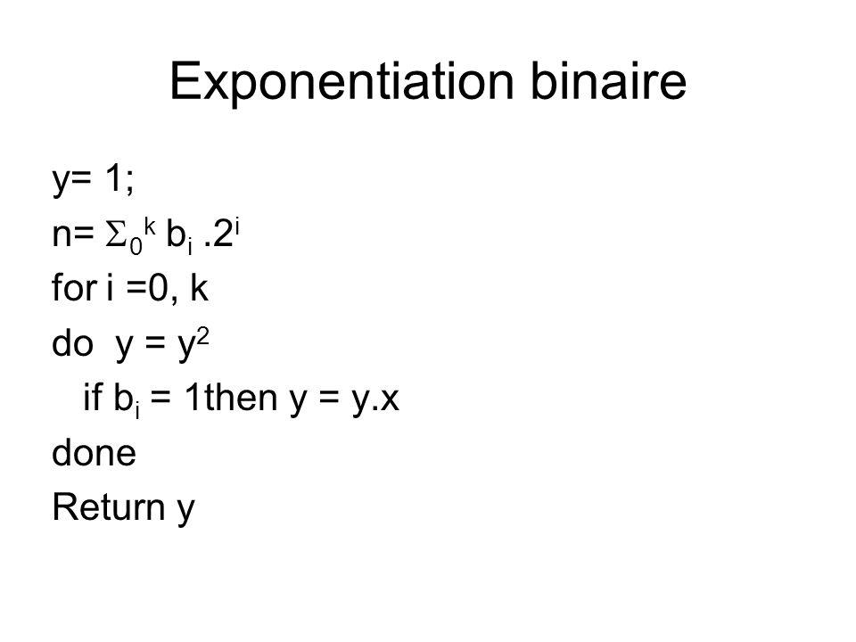 Exponentiation binaire