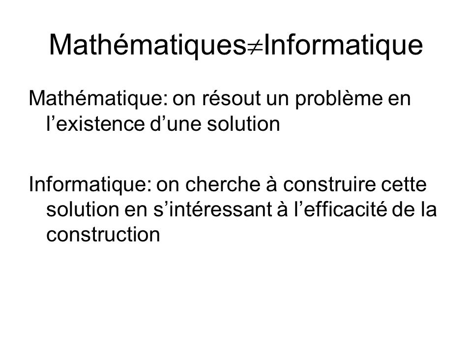 MathématiquesInformatique