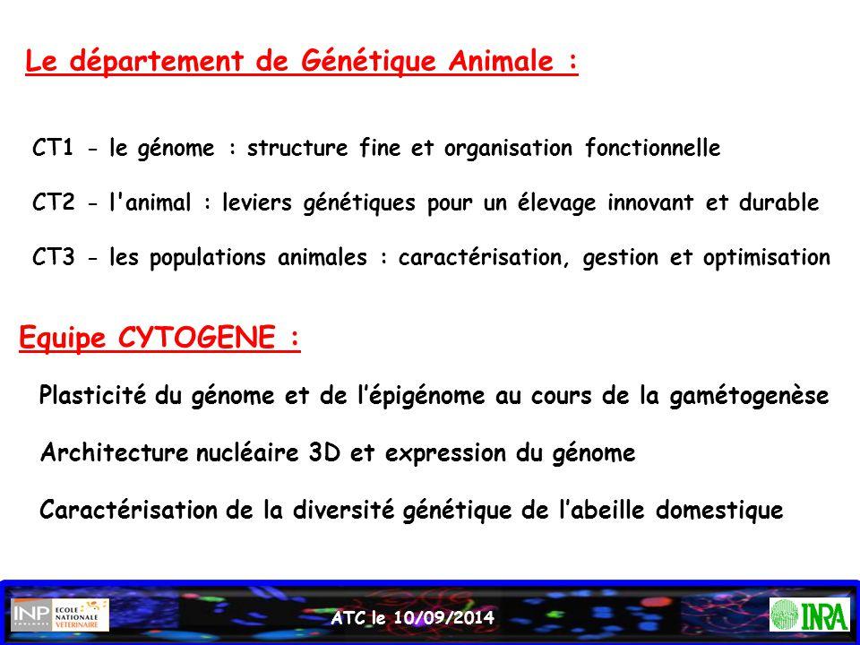 Le département de Génétique Animale :