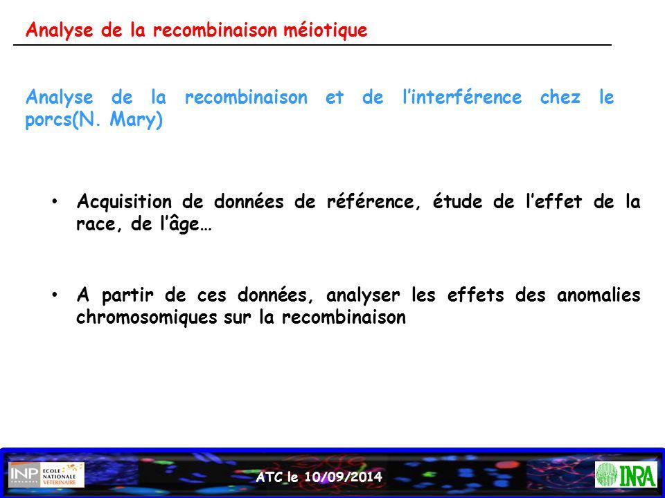 Analyse de la recombinaison méiotique