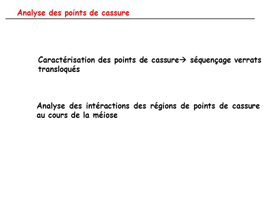 Analyse des points de cassure