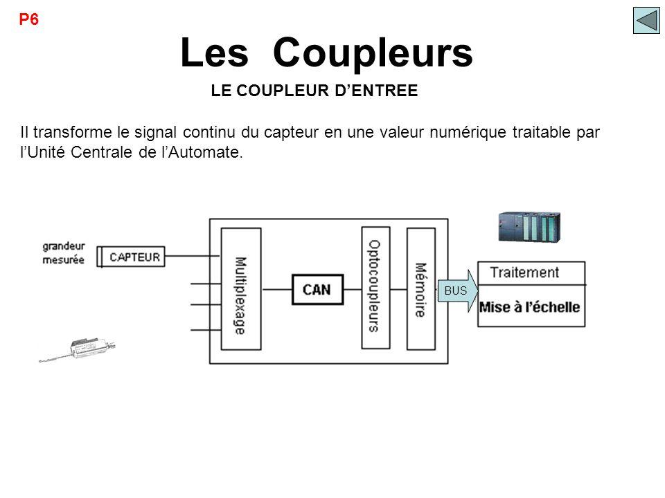 Les Coupleurs P6 LE COUPLEUR D'ENTREE