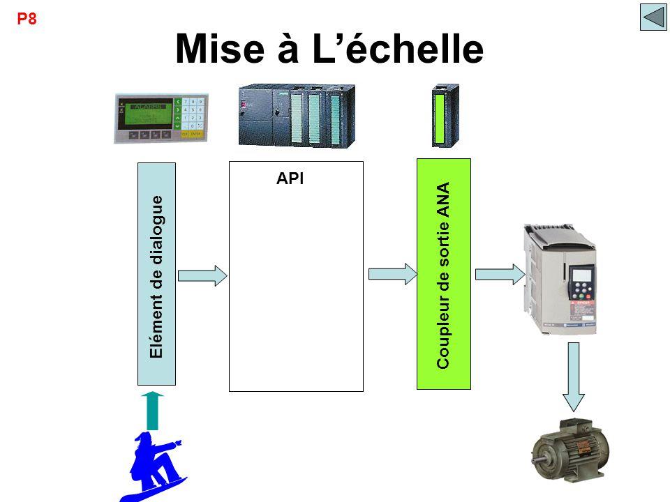 P8 Mise à L'échelle Coupleur de sortie ANA Elément de dialogue API €