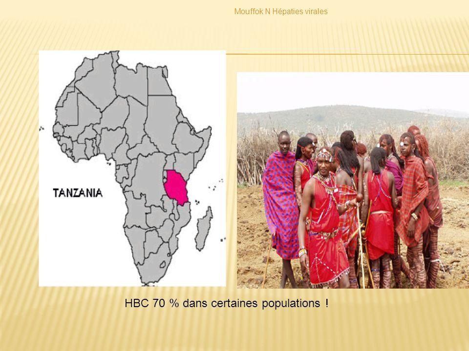 HBC 70 % dans certaines populations !