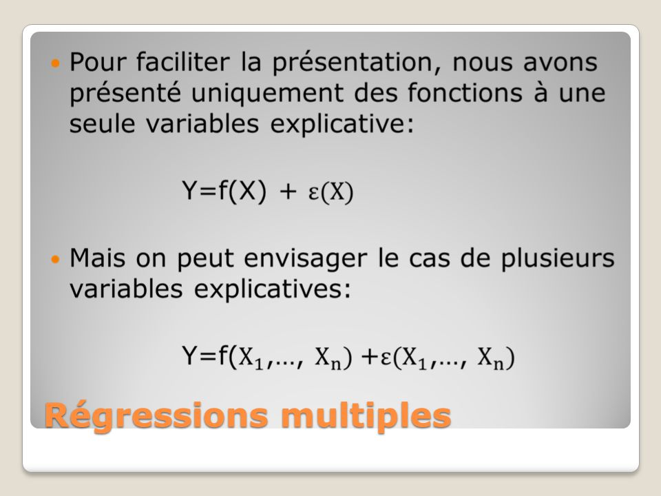 Régressions multiples