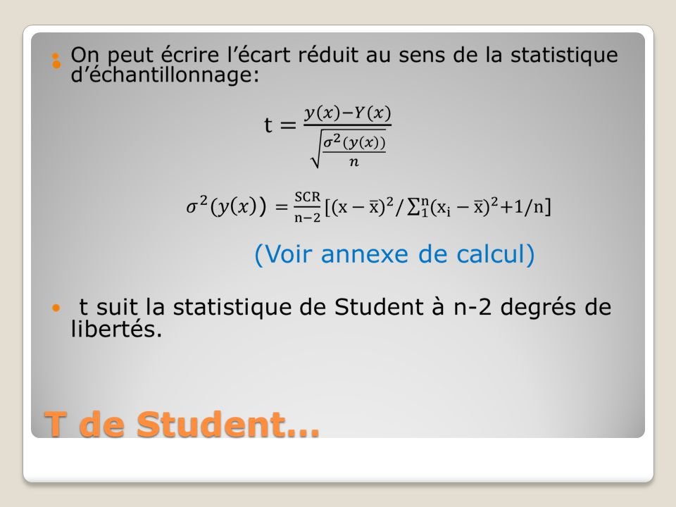 T de Student…