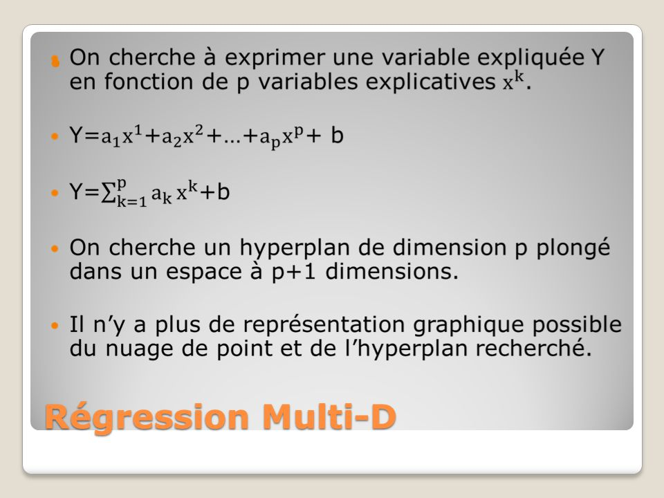 Régression Multi-D
